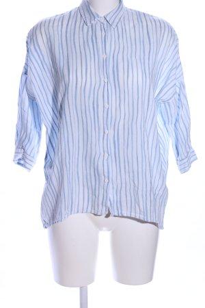 Mavi Hemd-Bluse weiß-blau Streifenmuster Business-Look