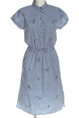 Mavi Hemdblusenkleid blau-weiß Allover-Druck Casual-Look