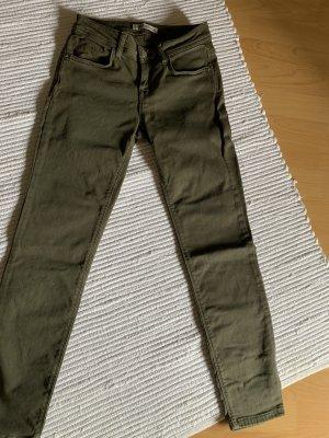 Mavi Jeansy 7/8 zielono-szary-khaki