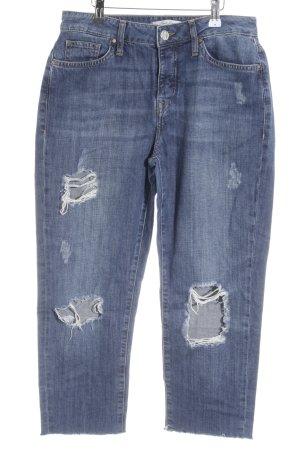 Mavi Jeans Co. Jeansy 7/8 niebieski Logo wykonane ze skóry