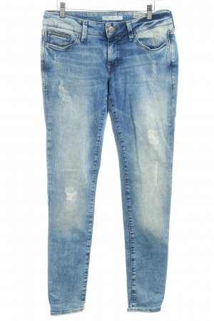 Mavi Jeans Co. Boyfriendjeans stahlblau-creme Used-Optik