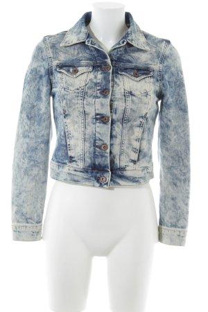 Mavi Jeans Co. Jeansjacke blau-weiß Bleached-Optik