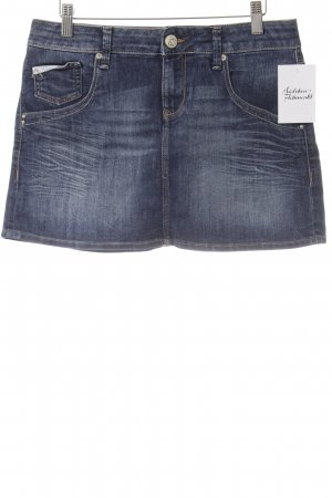 Mavi Jeans Co. Jeansrock dunkelblau Washed-Optik