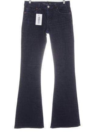 Mavi Jeans Co. Jeansschlaghose dunkelblau Casual-Look