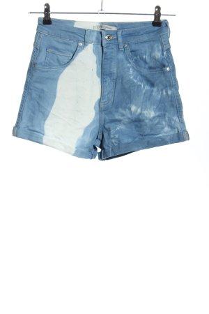 Mavi Jeans Co. Pantaloncino di jeans blu-bianco stile casual