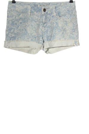 Mavi Jeans Co. Pantaloncino di jeans blu-bianco sporco stampa integrale