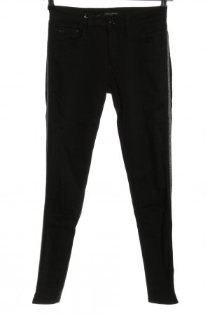 Mavi Jeans Co. Skinny Jeans schwarz-silberfarben Casual-Look