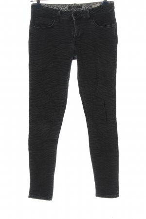 Mavi Jeans Co. Skinny Jeans schwarz grafisches Muster Casual-Look