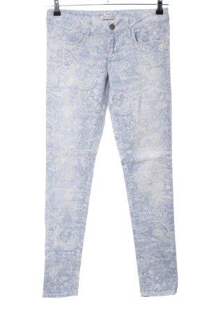 Mavi Jeans Co. Skinny Jeans blau-weiß abstraktes Muster Casual-Look