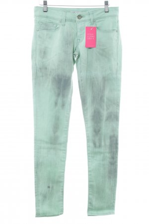 Mavi Jeans Co. Skinny Jeans türkis-schwarz Farbverlauf Casual-Look