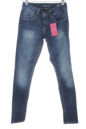 Mavi Jeans Co. Skinny Jeans blau Used-Optik