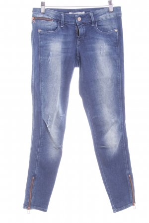 Mavi Jeans Co. Skinny Jeans blau Used-Optik
