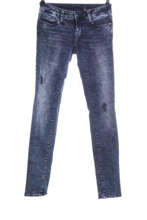 Mavi Jeans Co. Skinny Jeans blau Street-Fashion-Look