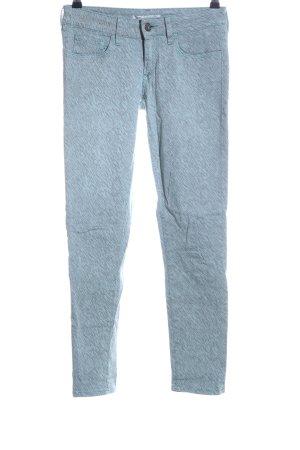 Mavi Jeans Co. Skinny Jeans türkis abstraktes Muster Casual-Look