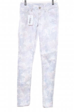 Mavi Jeans Co. Skinny Jeans hellgrau-blasslila florales Muster Casual-Look