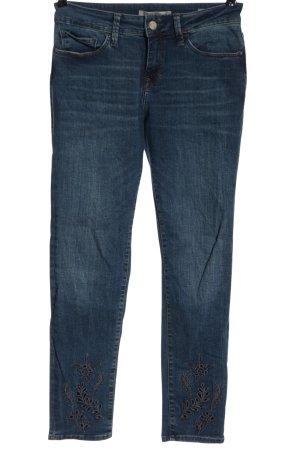 Mavi Jeans Co. Dopasowane jeansy niebieski Wyhaftowany logo W stylu casual