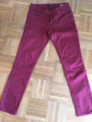 Mavi Jeans Dunkelrot Straight leg