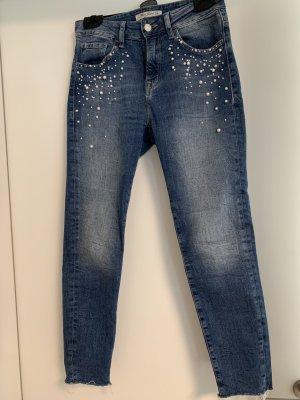Mavi Jeans mit Perlen