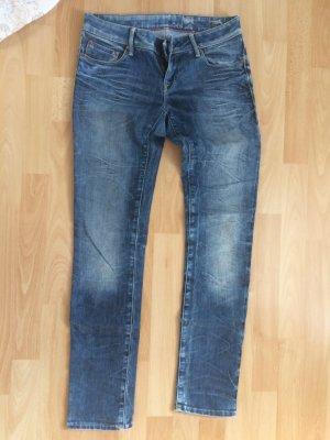 Mavi Jeans Co. Jeans cigarette gris ardoise-bleu