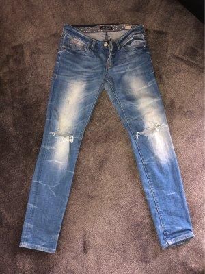 Mavi Jeans Co. Jeans vita bassa bianco-azzurro