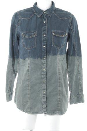 Mavi Jeanshemd dunkelblau-grüngrau Casual-Look