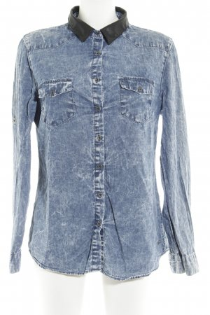 Mavi Jeanshemd graublau-schwarz Jeans-Optik