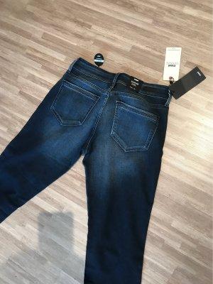 mavi UPTOWN Pantalon taille basse bleu foncé