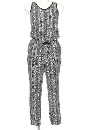 Mavi Jumpsuit weiß-schwarz Allover-Druck Casual-Look