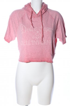 Mavi Camicia con cappuccio rosa puntinato stile casual