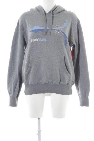 Mavi Kapuzensweatshirt Motivdruck Casual-Look