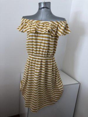 Mavi, Kleid, gestreift, Gr. L, mit Carmen-Ausschnitt