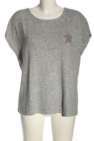 Mavi Blouse à manches courtes gris clair moucheté style décontracté