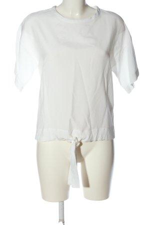 Mavi Blouse à manches courtes blanc style décontracté