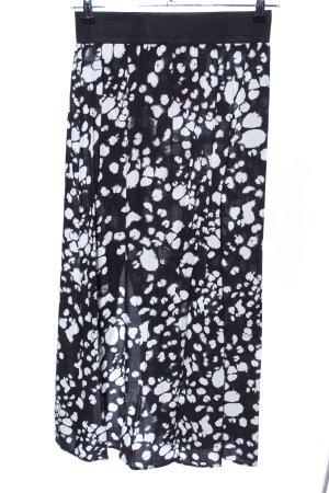 Mavi Falda larga negro-blanco estampado con diseño abstracto look casual