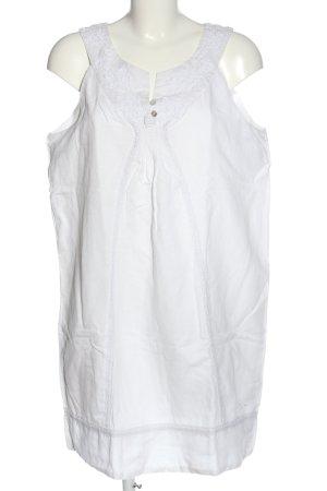 Mavi Minikleid weiß Schriftzug gestickt Casual-Look