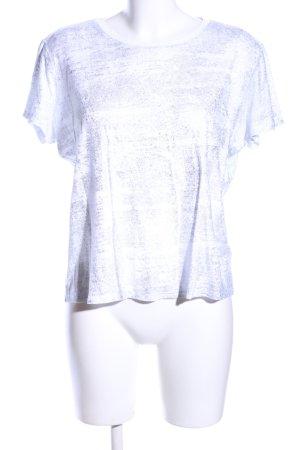 Mavi Oversized Shirt weiß-hellgrau meliert Casual-Look