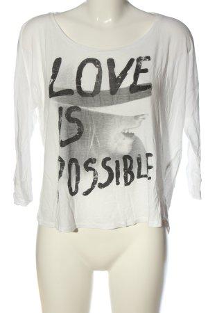 Mavi Print-Shirt Motivdruck Casual-Look
