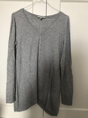 Mavi Jersey con cuello de pico gris-gris claro