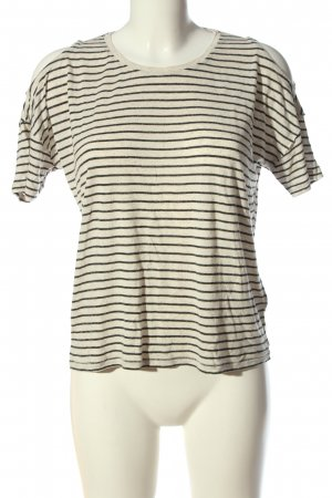 Mavi Ringelshirt creme-schwarz Streifenmuster Casual-Look