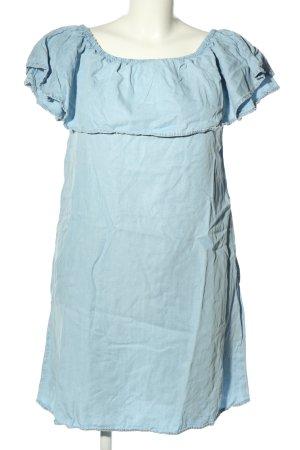 Mavi schulterfreies Kleid blau Casual-Look