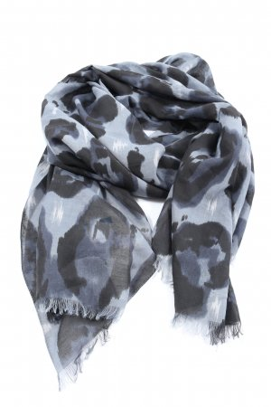 Mavi Shoulder Scarf light grey-black abstract pattern casual look