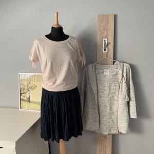 Mavi T-shirt rayé blanc-rosé