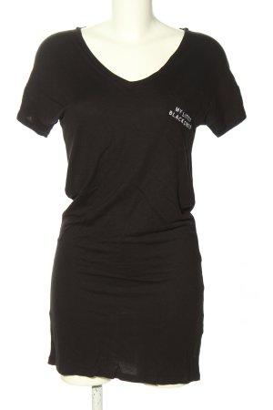 Mavi T-shirt jurk bruin gedrukte letters casual uitstraling