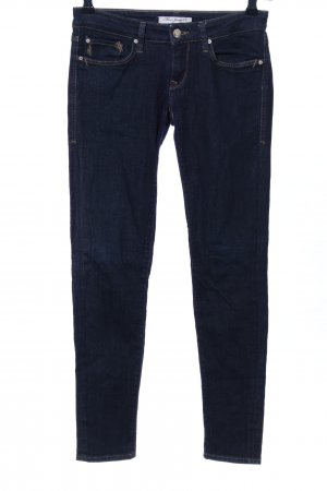 Mavi Skinny Jeans blau Business-Look