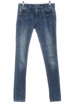 Mavi Skinny Jeans dunkelblau Washed-Optik
