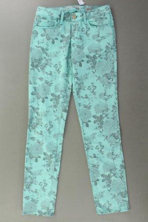 Mavi Skinny Jeans Größe W27/L32 mit Blumenmuster türkis aus Baumwolle