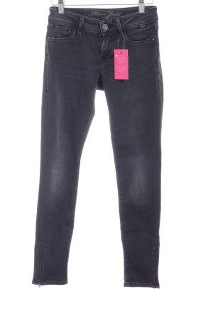 Mavi Skinny Jeans taupe-grau schlichter Stil