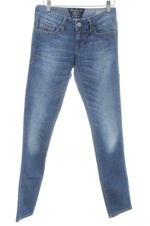 Mavi Slim Jeans blau meliert Used-Optik