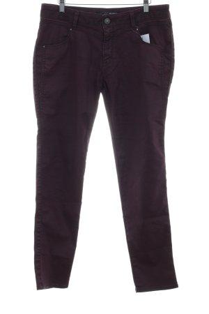 Mavi Slim Jeans bordeauxrot Casual-Look