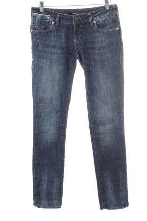 Mavi Slim Jeans dunkelblau Used-Optik
